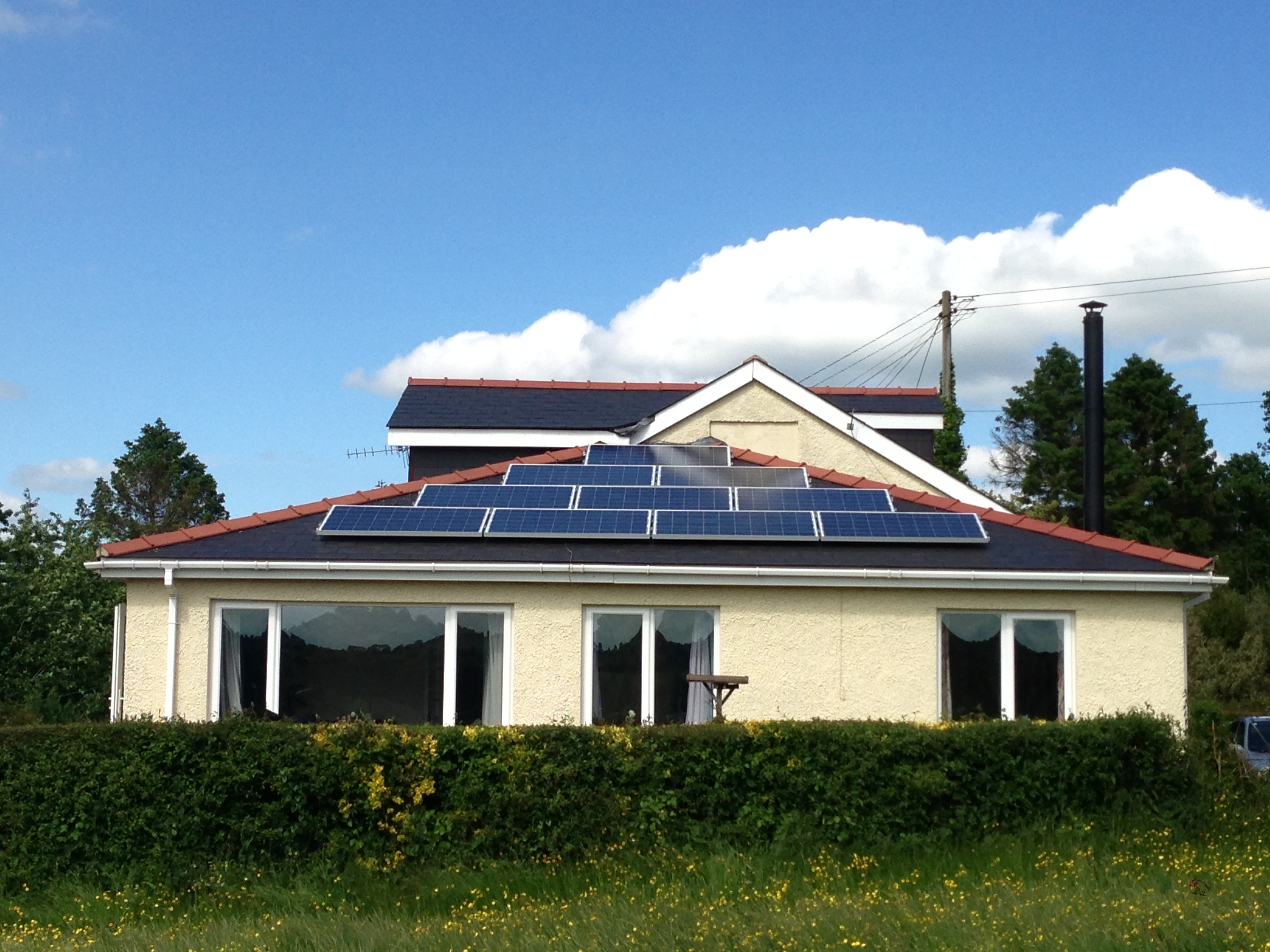 Maximising roof space for self-sufficiency and cost savings.