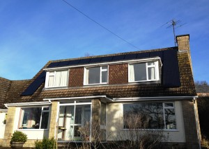 Hyundai Solar Panels Producing Home Electricity in How Caple Herefordshire Installed By GSM LImited, Newent