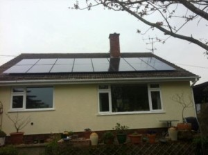 Domestic 4kW Solar Panel Installation Hartpury Gloucestershire. Another GSM Referral