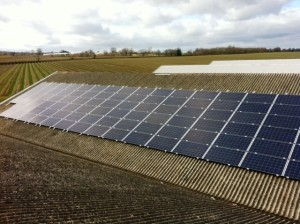 Commercial Solar Panel Installation in Newent. 50kW installed by GSM Limited