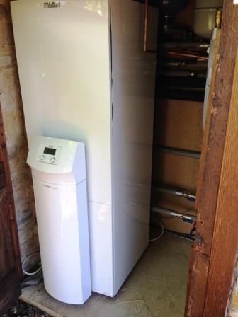 Internal unit for Ground Source Heat Pump Installed in Hartpury, Gloucestershire by GSM Limited.