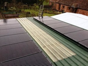 4kW Solar Panel Installation on outbuilding in Malvern, Worcestershire completed by GSM