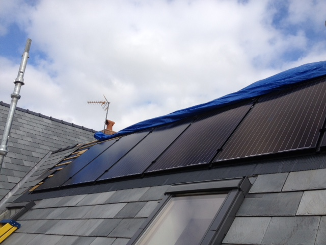 Solar Panels can be effective and look great! Gorsley home benefits from GSM Limited's professionalism.