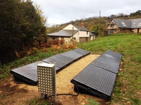 A neat and tidy Ground Mounted Solar Panel system installed by the best- GSM