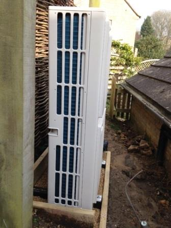 Outdoor Unit for the Air Source Heat Pump