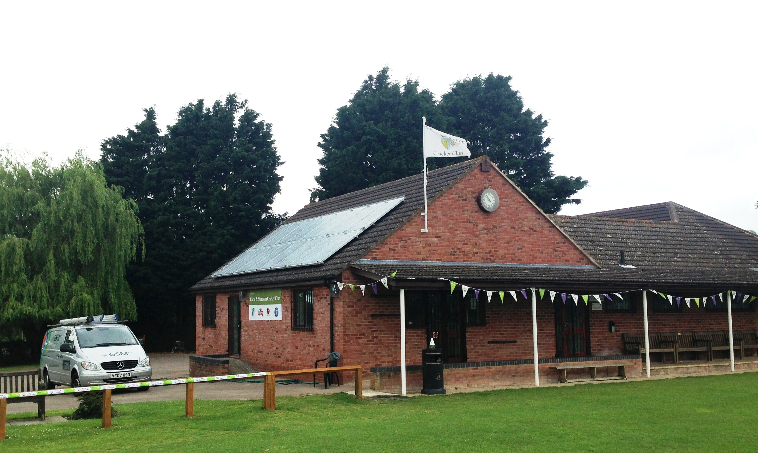 Ideal setting for a Solar Panels PV Array At Staunton and Corse Cricket Club