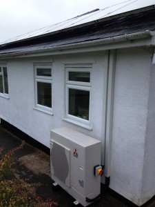 Air Source Heat Pump in Ross-on-Wye working with Solar Panels
