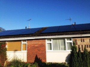 Solar Panels In Newent Gloucestershire for neighbours, providing electricity for their homes