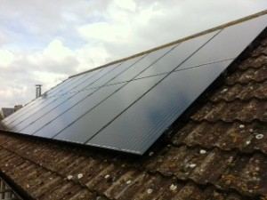 4kW Solar Panel installation in Lea Bailey Herefordshire, completed by GSM Limited.