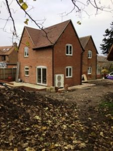 Renovated Home Benefits From Underfloor Heating and New Air Source Heat Pump, all installed by GSM Limited, Newent.